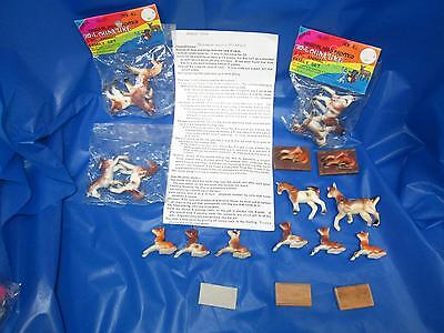 Miniature Horse Figures Lot with Game Instructions