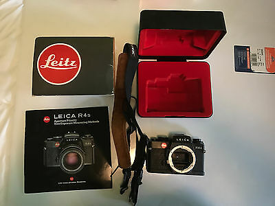Leica Leitz r4s Camera Body with case 2 exposure Measuring Methods Book UNTESTED