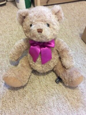 Teddy Bear, Soft Toy, Pink Bow,baby Girl, Gift