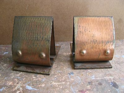 VINTAGE ARTS & CRAFTS HAMMERED Roycroft BOOK ENDS