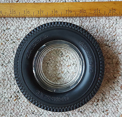 General Rubber Tire Advertising Ashtray Glass Insert