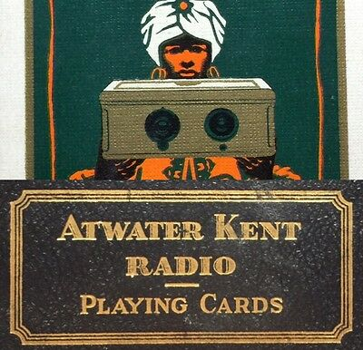 1926 Atwater Kent Antique Radio Futuristic Greatest Show Original Playing Cards
