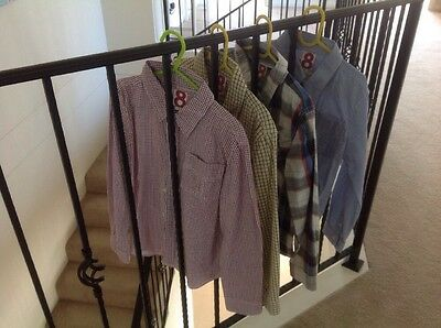 Boys Cotton On Dress Shirts X 4 Size 8 EUC!