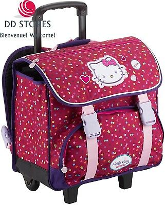 Hello Kitty Cartable à Roulettes, 38 cm, Rose (Framboise)