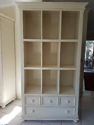 French Provincial style Wall units with shelves and draws. one unit available.