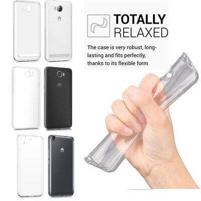 Clear Premium Silicone TPU Protector Case Cover For Huawei Y3 II/Y5 II/Y6 II Lot