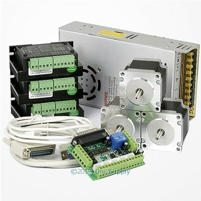 3 Axis CNC Controller Kit Nema23 Stepper Motor 175 Oz-in M335 Motor Driver 3.5A