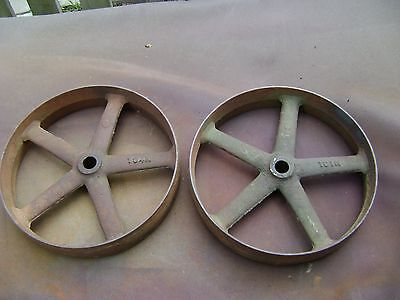 Cast Iron Wheels Hit Miss Gas Engine Cart IHC