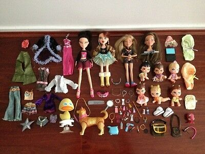 Mega lot of Fully Dressed Bratz Dolls, Petz, Accessories and 6X Bratz Lil Babyz