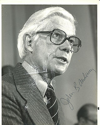 John B. Anderson Presidential Candidate Congressman Signed Photo