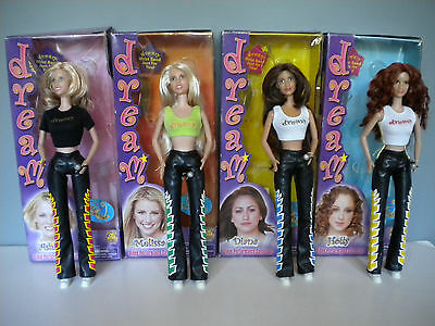 DREAM GIRL POP GROUP-4 dolls + boxes - Play Along 2001