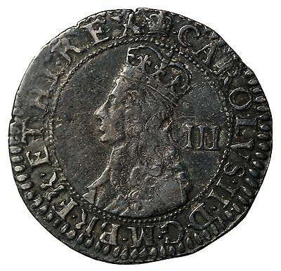 England Charles II 1660-1685 AR Silver Threepence Hammered Coin S.3325