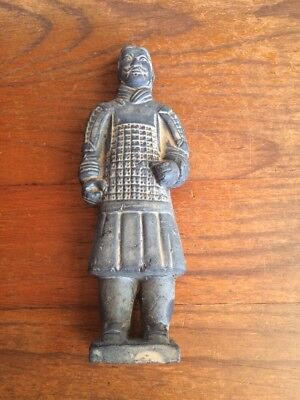 ANTIQUE CHINESE TERRACOTTA WARRIOR. ESTATE ITEM. 225mm TALL