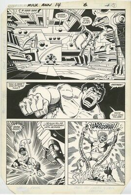 Incredible Hulk Annual 14 Pg 6 Original Comic Art Sal Buscema Artwork 1985 11x17