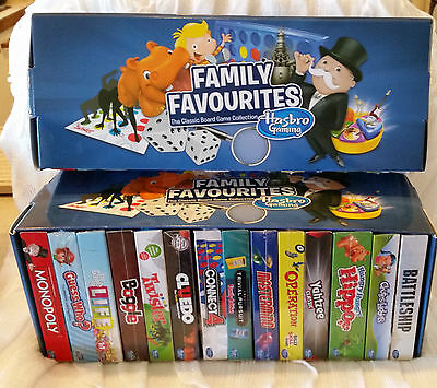 Perfect for Christmas - 14 Mini Board Games - Hasbro Family Favourites Mixed Lot