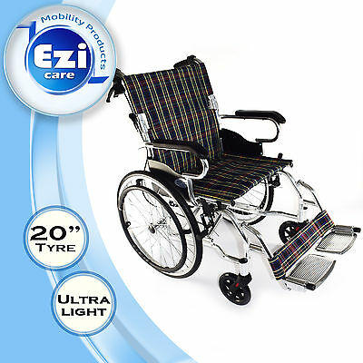 Folding Alu Light weight backdrop Wheelchair Ezi-Care Age Care Mobility Product