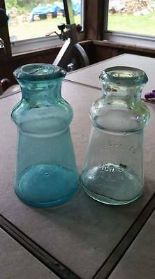 Two different Color Bixby Antique Bottle