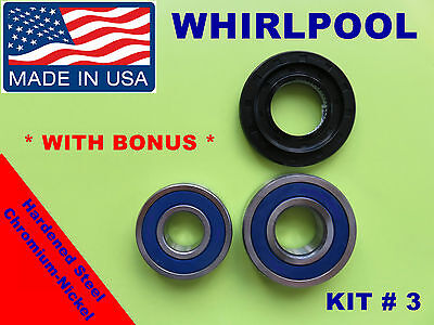 FRONT LOAD WASHER,2 TUB BEARINGS AND SEAL,Whirlpool KIT # 3