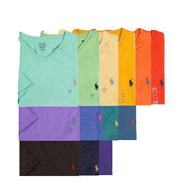 NEW Polo Ralph Lauren Men's Standard Fit V-Neck T-Shirt, XS. S, M, L, XL, XXL
