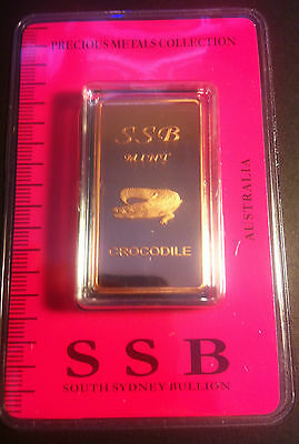 1 oz .999 Solid Copper Bullion Certified Ingot (Crocodile) 8 To Collect