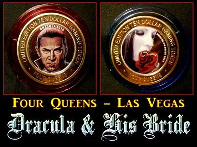 """HARD TO FIND / Four Queens - """"Dracula & His Bride"""" / Red & Blue Cap"""