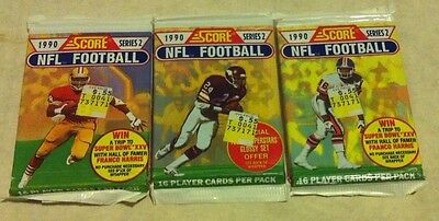 NFL Card Packs x 3