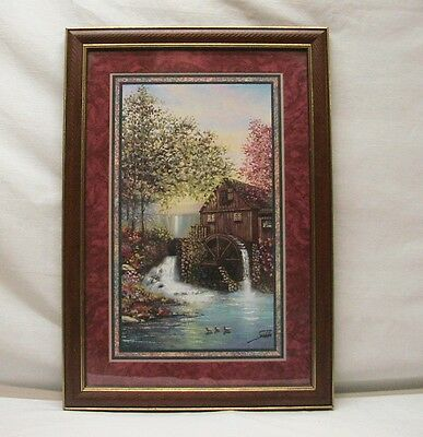 """Home Interior Homco""""Adorable Overlooking Jeweled Falls""""The Grist Mill """"Picture#1"""