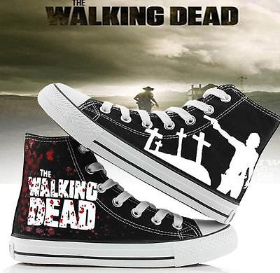 Walking Dead Casual Sneakers Canvas Shoes Unisex Game Cool New
