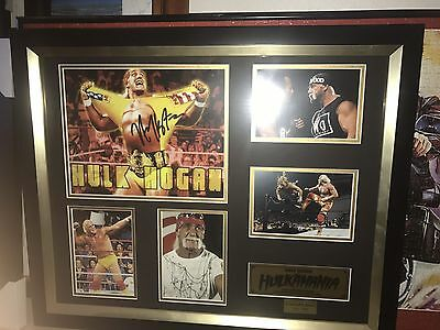 Signed Hulk Hogan Picture Frame