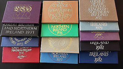 Coinage of Great Britain and Northern Ireland 1970-1982  Proof Sets (Lot of 13)