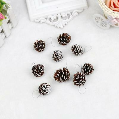 9pcs Christmas Pine Cones Bauble Xmas Tree Party Hanging Decoration Ornament