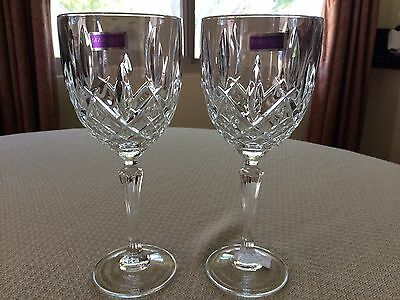 """Marquis by Waterford Crystal """"Markham"""" Pair of Wine Water Goblets - 8 5/8 inch"""