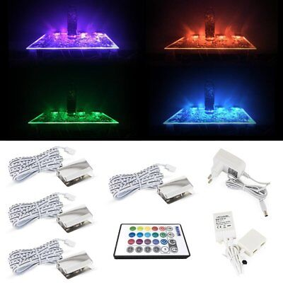 Led Glass Edge Lighting Kit for Glass Liquor Shelf, Color Changing Entertainment