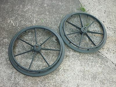 Wheelchair Q/r Wheels With Solid Tyres Gc P/u Yatala 4207