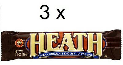 3 x Milk Chocolate English Toffee Bars 39g each
