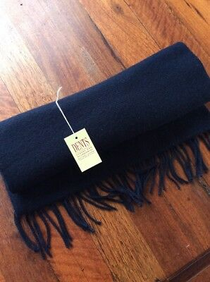New Dents Lambswool Scarf - Navy