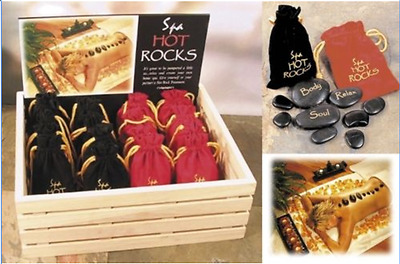 Spa Hot Rocks Stone Therapy Relaxing Hot Cold Massage Kit Gift Pack