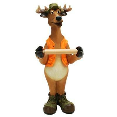 """Rivers Edge Products 801 """"Standing Deer"""" Toilet Paper Holder Poly Resin"""
