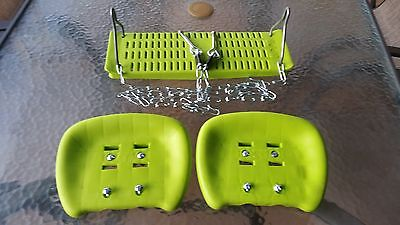 Hills Playtime Swing Set- Parts - Glide & Single Seats - Complete - New - Green