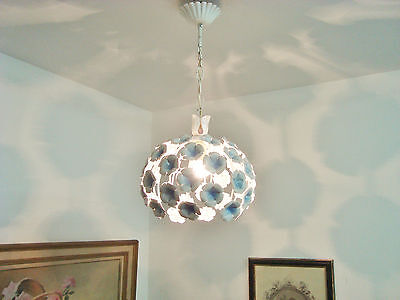 Ultimate Shabby French Chic Tole Blue Flowers Chandelier Light Lamp