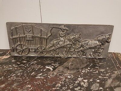 19thC cast iron wall plaque