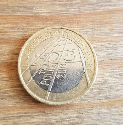 London Olympic Centenary 1908 - 2008 Rare £2 Two Pound Coin