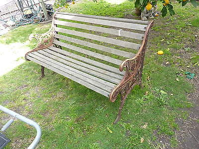 vintage CAST IRON BENCH SEAT