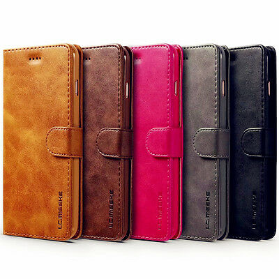 For iPhone X 7 8Plus 6S Luxury Magnetic Flip Cover Stand Wallet Leather Case New