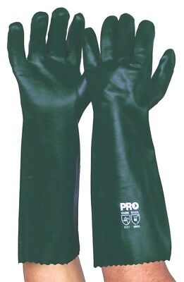 NEW PVC en388 GLOVES DOUBLE DIPPED OIL CHEMICAL RESISTANT 45 CMS  PROCHOICE 4221