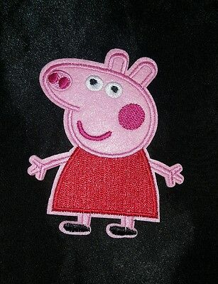 RED DRESS PEPPA PIG! Embroidered iron on patch
