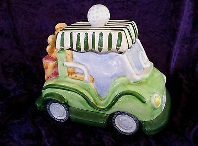 Ceramic Novelty Golf Buggy Large Cookie Jar