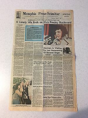 Elvis Memorabilia: 1977 Death Of Elvis Memphis Newspaper!