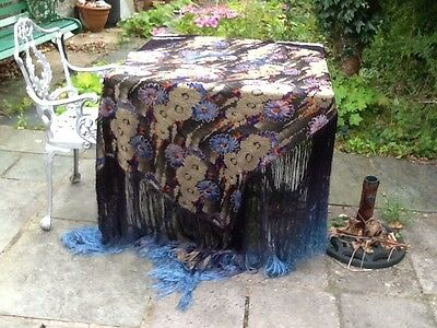 A Beautiful Antique Lame Fringed Shawl.