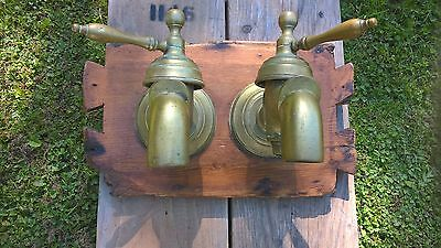 Lovely old very large pair of brass taps